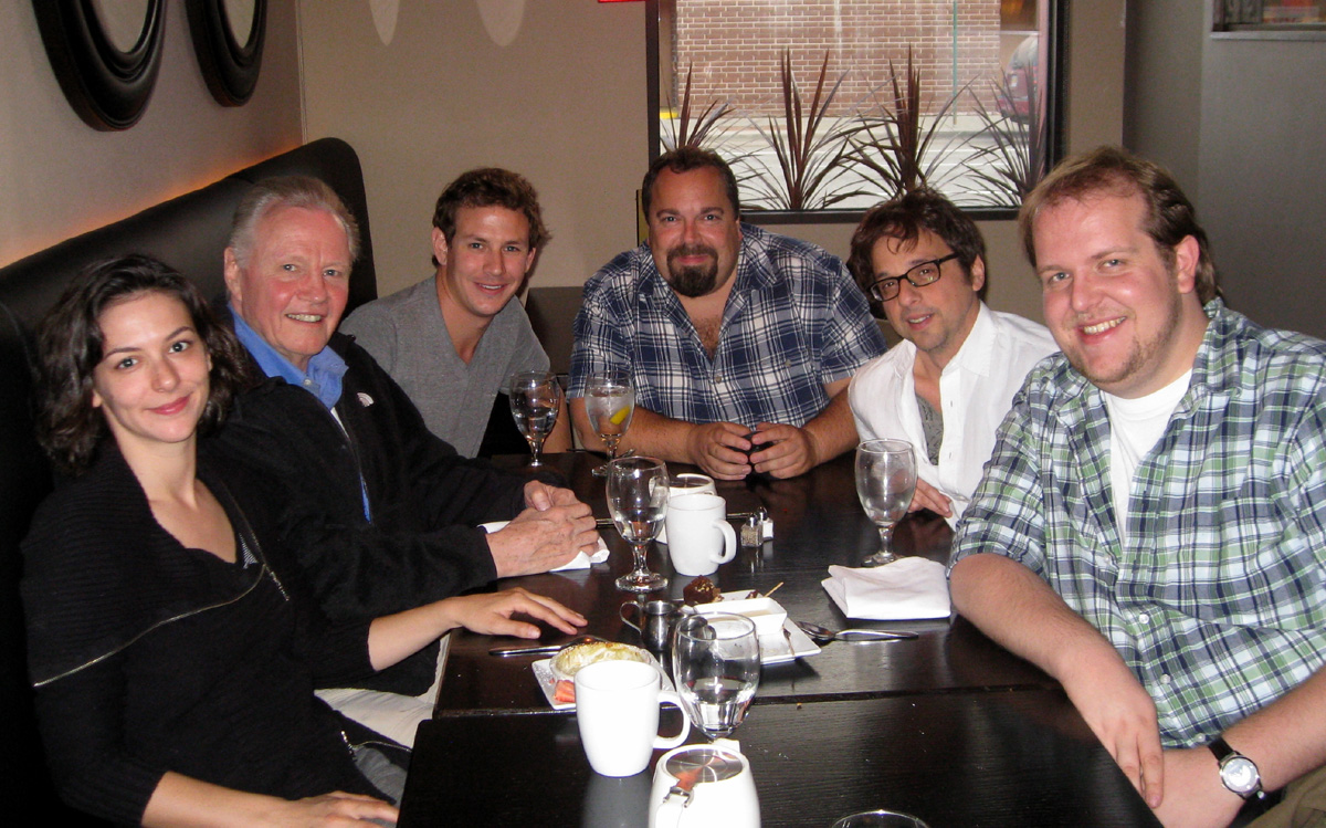 L-R: Me, Jon Voight, Casey Graf, Andy Pandini, Rob Bruner & Dominic Burgess